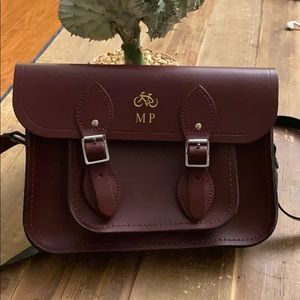 Cambridge Satchel Company in leather- Oxblood 11""